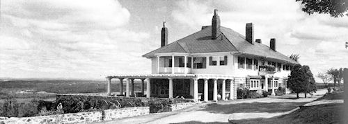 THE PERGOLAS… Miss Clara Endicott Sears' residence on Prospect Hill by her favorite creation: the Fruitlands museum. The Italianate building was dismantled soon after Miss Sears died in 1960.