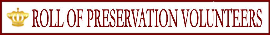 Honor Roll of Preservation Volunteers
