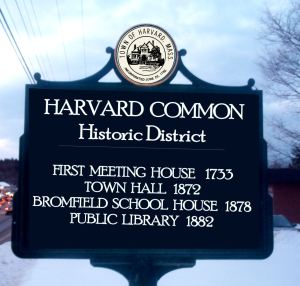 HARVVARD historic district sign2B