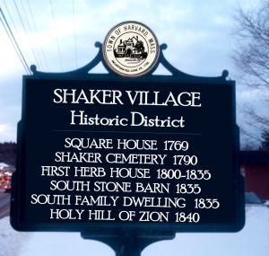 SHAKER historic district sign2B